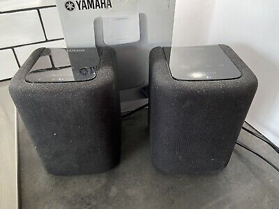 Pair Of Yamaha MusicCast WX010 Wireless Speakers With Bluetooth & Airplay Black • 97£