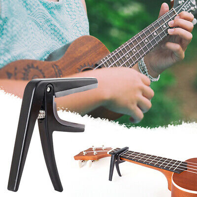 AU12.39 • Buy 3PCS Ukulele Capo Single-handed Quick Change Ukelele Capo Guitar Parts Black
