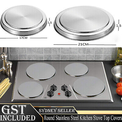 AU17.88 • Buy 4Pcs Round Stainless Steel Electric Stove Top Burner Cooker Protection Covers AU