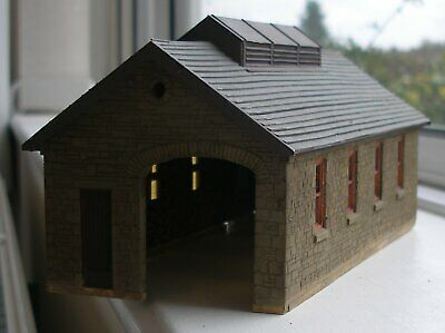 009 Scratch-built Welsh-style Loco Shed With Hand-carved Stone Walls • 29£