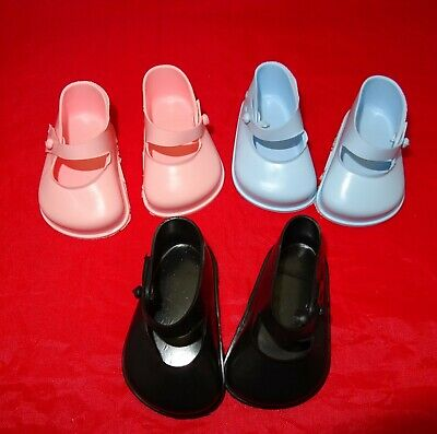 Cinderella Doll Strap Shoes. Size 3. Blue, Pink & Black • 3£