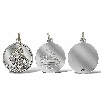 Sterling Silver St Christopher Pendants 22mm Ingot Travel Or Free Engraving Box • 6.99£