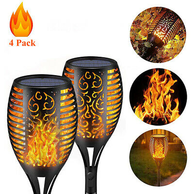 4 Packs Solar Flame Torch Light Flickering Waterproof Garden Lawn Lamp Outdoor  • 11.88£