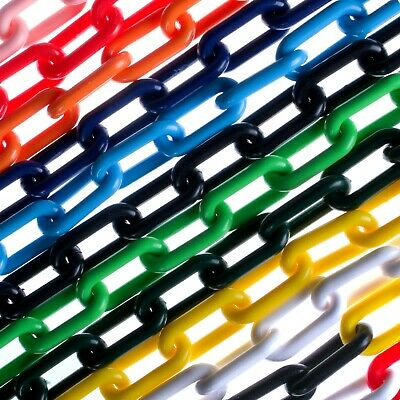 £1.99 • Buy Sample, 5,10 & 25m 8mm Plastic Chain Link Fencing Garden Barrier Health & Safety