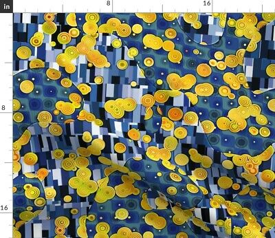 $ CDN18.25 • Buy Abstract Square Circle Painting Edwardian Klimt Spoonflower Fabric By The Yard