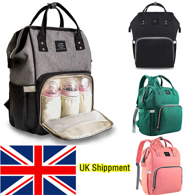LAND Baby Diaper Backpack Mummy Nappy Nursing Changing Multifunction Travel Bag • 15.99£