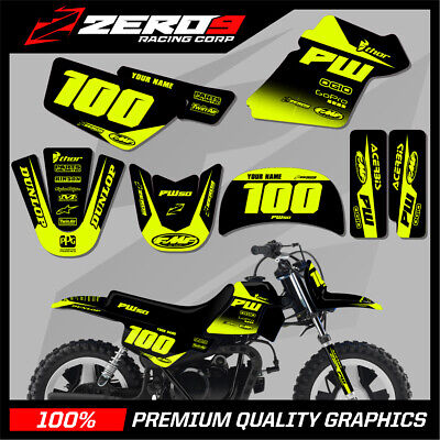$ CDN76.64 • Buy Yamaha Pw 50 Graphics Kit Peewee 50 Graphics Mini Bike Graphics Block Blk/yel-f