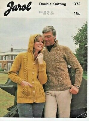 Ladies Mens Dk Jumper & Hoodie 32-42  Original Knitting Pattern Jarol 372 • 2.59£