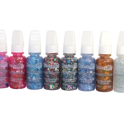 Confetti Glitter Dovecraft Glue Craft Paint Available In 8 Colours MDF Craft Art • 2.20£