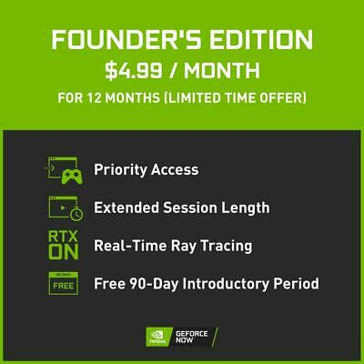 $ CDN9.99 • Buy Geforce Now Founders Edition 12 Month Subscription (Requires RTX 30 Series)