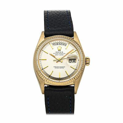 $ CDN10964.30 • Buy Rolex Day-Date Automatic 36mm Yellow Gold Mens Silver Dial Strap Watch 1803