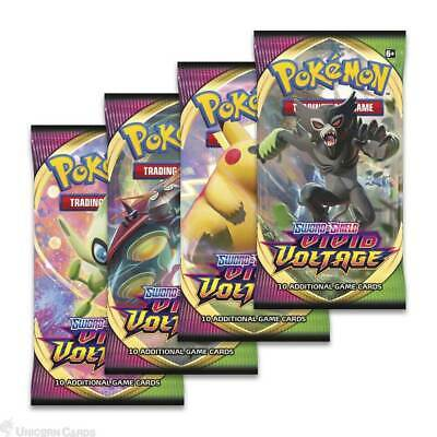 Pokemon TCG: Sword & Shield - Vivid Voltage :: 4 Booster Packs - All Types - Bra • 15.29£