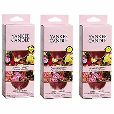 Yankee Candle 3 X Fresh Cut Roses Twin Refill Pack • 17.99£