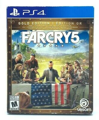 AU66.81 • Buy Far Cry 5 Gold Edition (Sony Playstation 4, PS4 2018) Complete With Slipcover