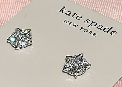 $ CDN53.43 • Buy NWT Kate Spade Clear Silver Star Studs Something Sparkly Earrings