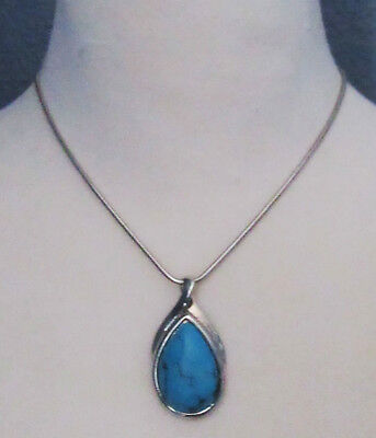 $ CDN0.31 • Buy Lia Sophia Jewelry Silver Turquoise Mohave Necklace