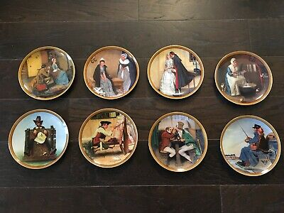$ CDN90.82 • Buy Lot Of 8 NORMAN ROCKWELL Colonials Collectible Plates: The Rarest Rockwells