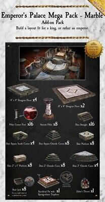 $ CDN1139.27 • Buy Dwarven Forge Emperor's Palace Mega Pack Limited Edition Marble D&D PAINTED NEW