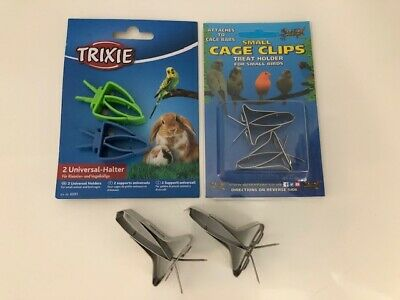 £4.99 • Buy CuttleFish Clips / Universal Cage Clips (Plastic / Metal) Birds / Small Animal