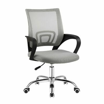 AU56.20 • Buy GREY Home Office Mid Back Computer Executive Desk Mesh Chair Height Adjust Cody