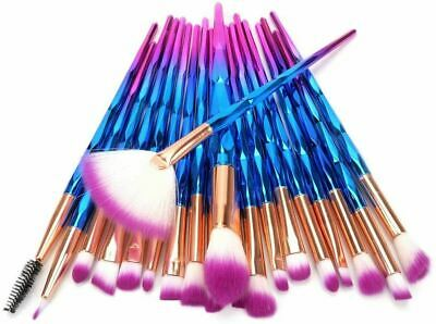 AU22.23 • Buy Makeup Brushes Set Unicorn Diamond Color Foundation Eyeshadow-20 PCS