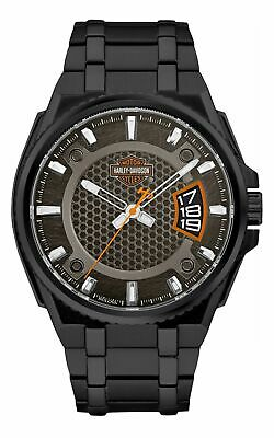 Harley-Davidson B&S Dimensional Stainless Steel Men's Watch 78B151 • 149.83£