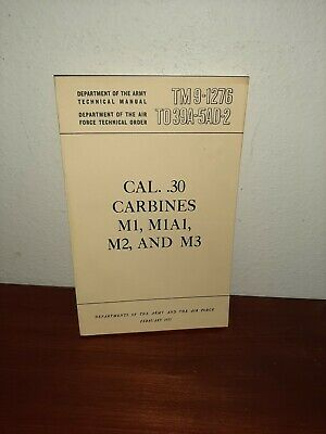 $19.99 • Buy CAL. .30 Carbines M1, M1A1, M2 And M3 Army 1953