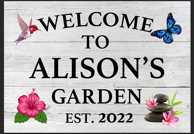 £5.39 • Buy Personalised Garden Sign She Shed Plaque Gift Summer House Zen Flowers Outdoor