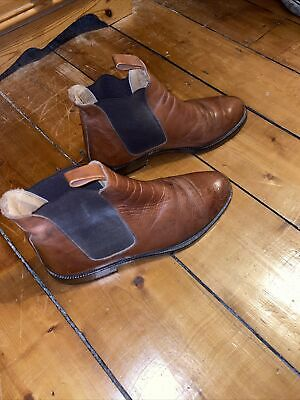 Bally Chelsea Boots Made In Itally, Brown Leather Size 9  • 40£