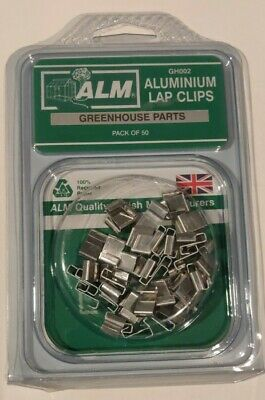 Pack Of 50 Greenhouse Aluminium Z Lap Window Glazing Clips ALM  • 6.49£