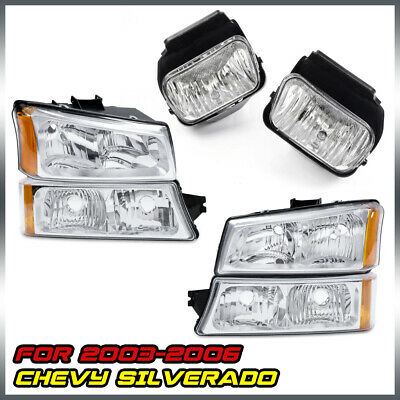 $88.49 • Buy 6PCS For 03-06 Chevy Silverado Headlights+Bumper Signal Lamp+Driving Fog Lights