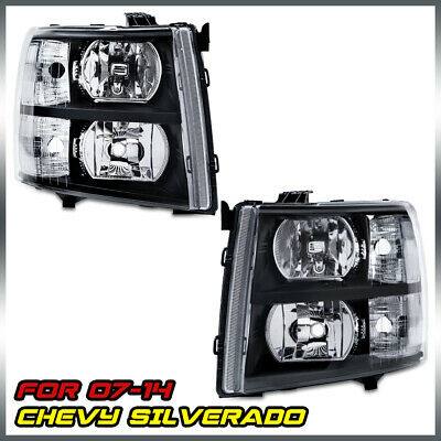 $91.59 • Buy Headlights Assembly For 2007-2014 Chevy Silverado 1500 2500 HD 3500 HD Headlamps