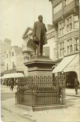 1910 Postcard Butler & Co Shop And Palmer's Statue READING Bekshire • 1.35£