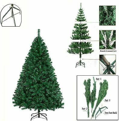 7ft Green Artificial Christmas Tree With Metal Stand Xmas Indoor Decoration New • 36.99£