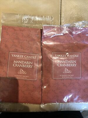 Yankee Candle Mandarin Cranberry Scented Sachet Brand New • 4.20£