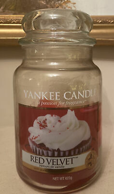 Yankee Candle Discontinued Rare Red Velvet Large Jar 623g Used • 17.99£