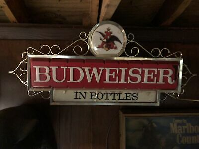 $ CDN189.46 • Buy Vintage 1967 Original Budweiser Beer Lighted Sign