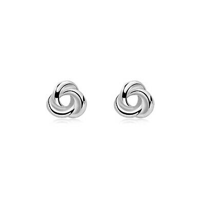 925 Sterling Silver Round Celtic Trinity Knot Filigree Stud Earrings 8mm Pair • 5.55£