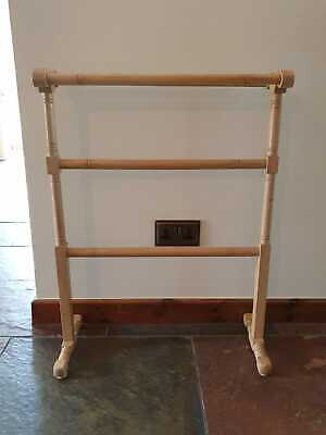 Antique Wooden Towel Rail Stand • 25£