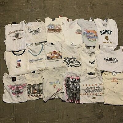 $ CDN208.54 • Buy Vintage Harley Davidson Wholesale Women T Shirt 18 Lot Graphic Bundle 00s
