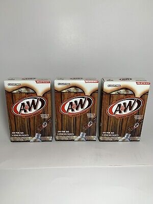 A & W Root Beer ~ 6 Sticks ~ Sugar Free ~ Drink Mix ~ Lot Of 3 • 8.99£