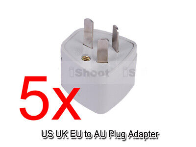 AU1.92 • Buy 5x US UK EU Europe To AU Australia NZ CN AC Power Plug Adapter Travel Converter