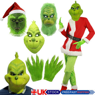 £17.21 • Buy UK The Grinch Mask Adult Costume Cosplay How The Grinch Stole Christmas Outfits