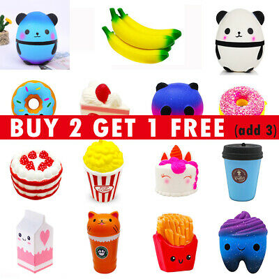 AU9.09 • Buy Super Cute Jumbo Slow Rising Squishys Squeeze Toy Stress Reliever Toy Xmas Gift