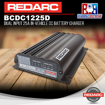 AU573.84 • Buy Redarc BCDC1225D 12V Dual Input 25A In-vehicle DC To DC Battery Charger