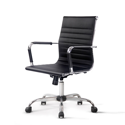 AU98.95 • Buy Artiss Gaming Office Chair Computer Desk Chairs Home Work Study Black Mid Back