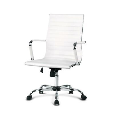 AU108.95 • Buy Artiss Gaming Office Chair Computer Desk Chairs Home Work Study White Mid Back