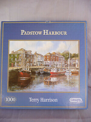 Gibson 'Padstow Harbour' By Terry Harrison 1000 Piece Jigsaw Puzzle • 12£