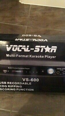 Vocal-Star VS-600 CDG Karaoke Machine 2 Microphones 300 Songs Only Used Once • 65£