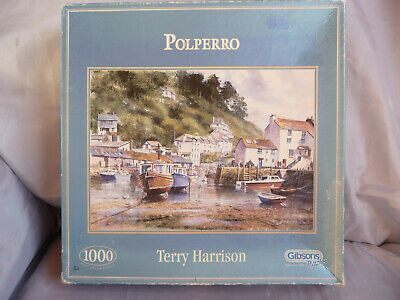 Gibson 'Polperro' By Terry Harrison 1000 Piece Jigsaw Puzzle • 8£